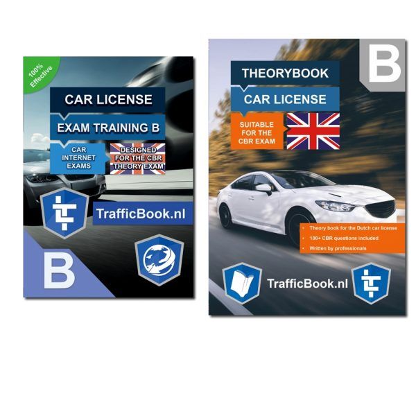 Driving license B theorybook English + 15 hours online exam training 2019